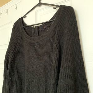 Slouchy black sweater